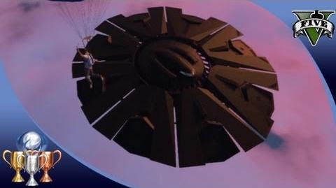 GTA 5 - Flying UFO 2 Easter Egg Over Fort Zancudo - Illuminati Alien UFO Easter Eggs 100%