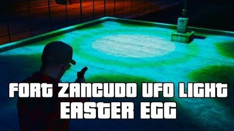 GTA V Fort Zancudo UFO Light Easter Egg