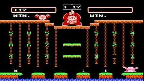 NES Game Donkey Kong Junior Math (1983 Nintendo)