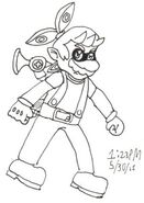 Inkling Mario