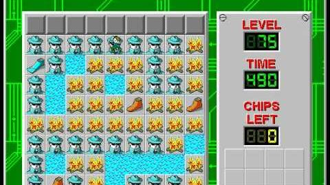 Chip's Challenge 1 level 75 solution - 479 seconds