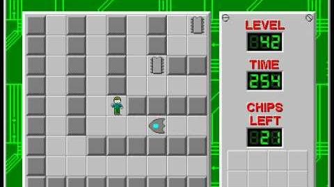 Chip's Challenge 1 level 42 solution - 187 seconds