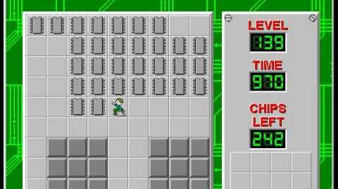 Chip's Challenge 1 level 139 solution - 920 seconds