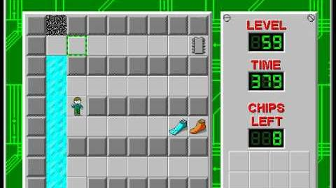 Chip's Challenge 1 level 59 solution - 368 seconds