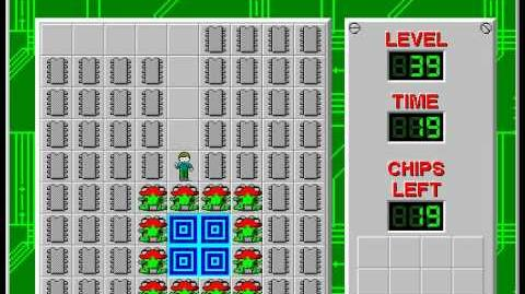 Chip's Challenge 1 level 39 solution - 17 seconds