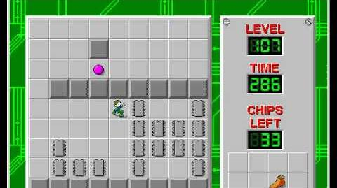 Chip's Challenge 1 level 107 solution - 260 seconds