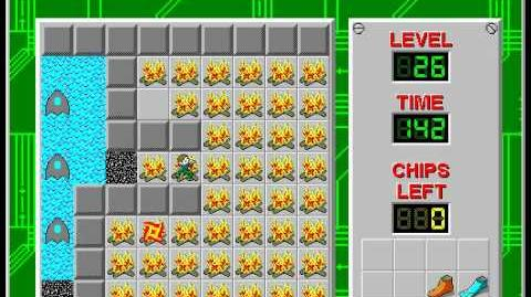 CCLP2 level 26 solution - 128 seconds