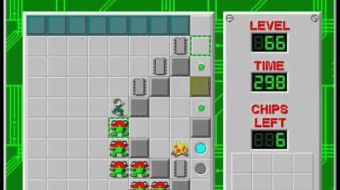 Chip's Challenge 1 level 66 solution - 292 seconds