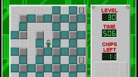 Chip's Challenge 1 level 30 solution - 454 seconds