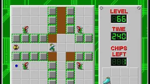 CCLP2 level 66 solution - 233 seconds