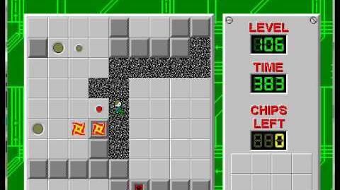 CCLP1 level 106 solution - 364 seconds