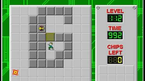 Chip's Challenge 1 level 112 solution - 985 seconds