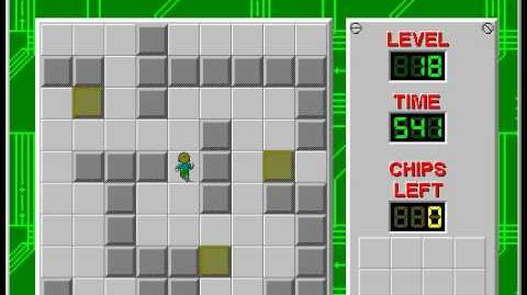Chip's Challenge 1 level 18 solution - 434 seconds