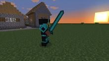 Pirate wearing diamond armor holding Diamondsword