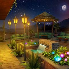 Rooftop Garden: Night