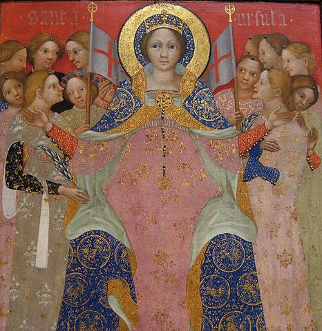 File:Saint Ursula and Her Maidens, ca. 1410.jpg