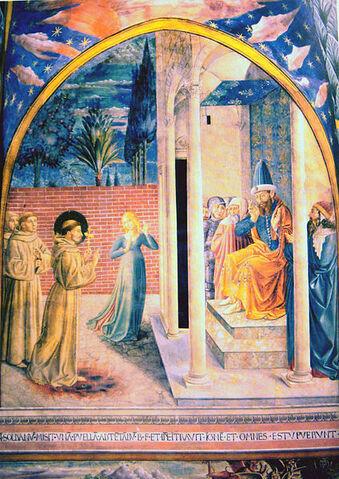 File:SaintFrancisAssisiWithAlKamil15thCentury.JPG