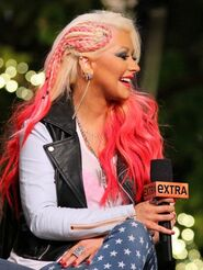 Christina Aguilera - Extra at The Grove in LA-06-560x746