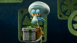 Squidward in stop-motion