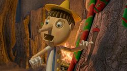 Pinocchio in Shrek the Halls