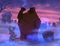 Pete appears before Scrooge