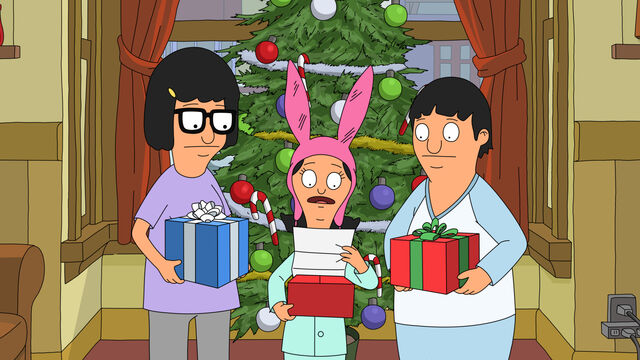 File:Tina, louise and gene holding presents.jpg