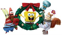 Its a SpongeBob Christmas promotional picture