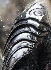 Moon-silver armor