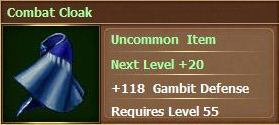 Combat cloak