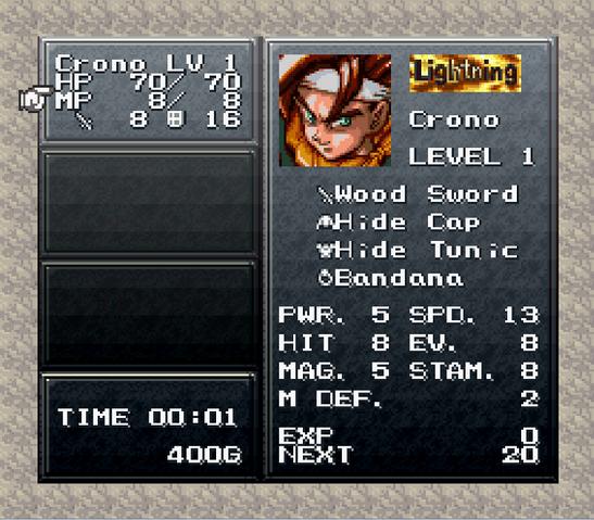 File:Chrono Trigger Main Menu.png