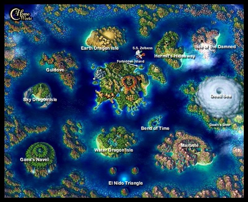Chrono Cross World Map