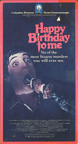 Happy Birthday to Me VHS (1)
