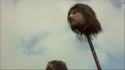 Sean Bean's head in Game of Thrones-Fire and Blood