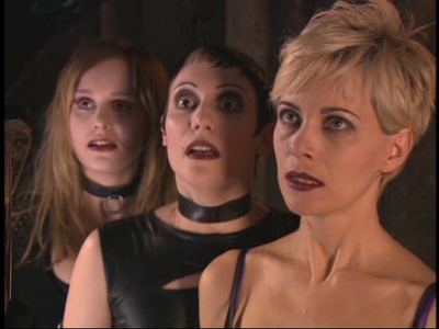 Andrea Green, Rachel Mooney and Angie Hill Just before their deaths in Lexx-Vlad