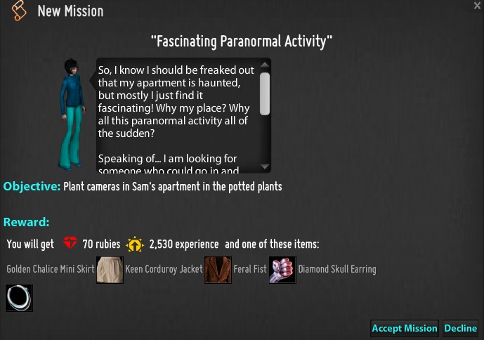 Fascinating Paranormal Activity mission