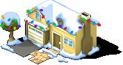 Family Townhouse snow