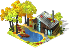 Fall House With Pond-SE