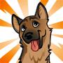 Geoffrey the German Shepherd-feed