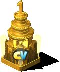 Golden Birthday Cake