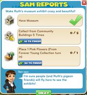 Sam reports