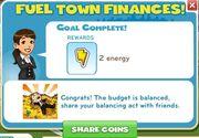 Fuel town finances reward