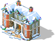 Sprawling Mansion snow