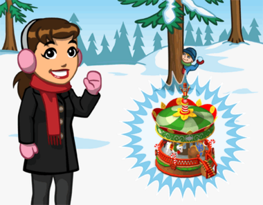 Announce winter carousel