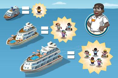Announce cruise ships