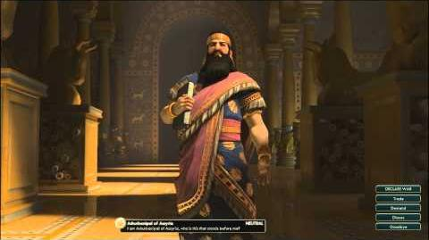 Civilization V OST Ashurbanipal Peace Theme Ancient Assyrian Chant
