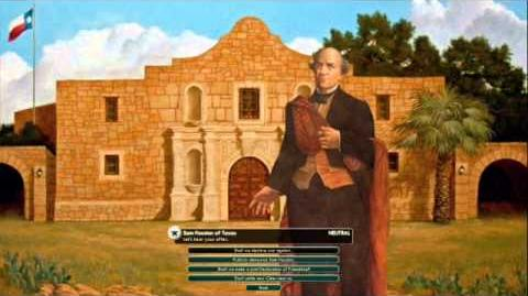 The Republic of Texas - Sam Houston Peace