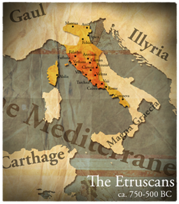 Map etruscan