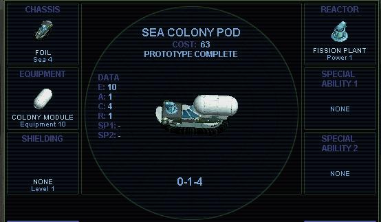 Sea colony pod (SMAC)