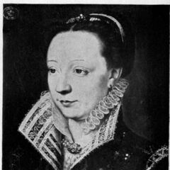 A painting of Catherine de Medici c. 1540 (which appears to be part of the basis for her in-game model)