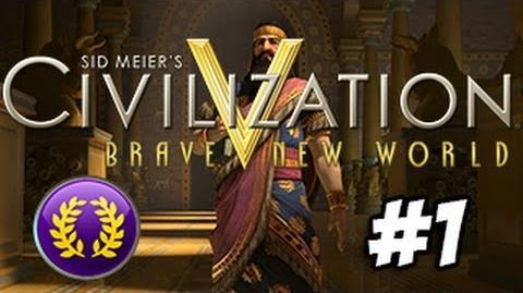 Civilization V Brave New World Let's Play - Rome - New World - Ep1-0